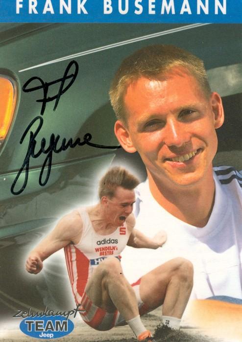 Mitglied Zehnkampf-Team Frank Busemann